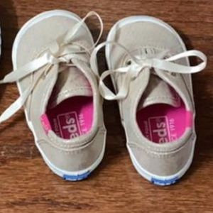 Baby Gold Keds size 3-6 Month, EUC